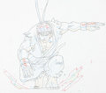 Animation Art:Production Drawing, Street Fighter Zero Ryu Anime Animation Drawings, PrelimDrawings, and Model Sheet Group of 10 (Group TAC, 2000). ...(Total: 10 Items)