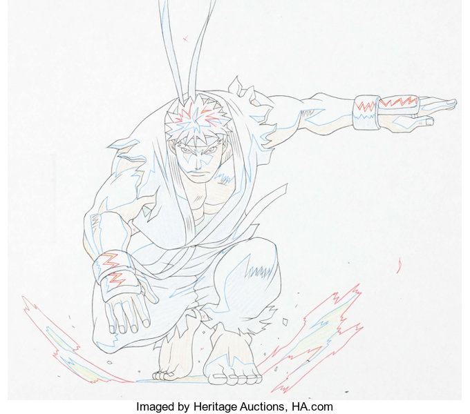 Street Fighter Zero Ryu Anime Animation Drawings Prelim Drawings