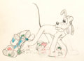 Animation Art:Production Drawing, Pluto Animation Drawing (Walt Disney, c. 1940s)....