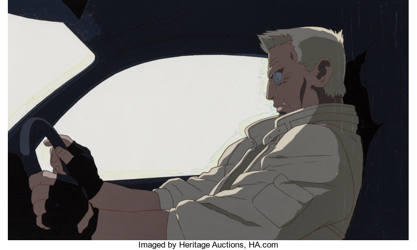 Ghost In The Shell Batou Anime Production Cel And Matching Lot 13115 Heritage Auctions