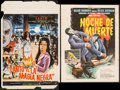 "Movie Posters:Adventure, Santo vs. La Magia Negra & Other Lot (Peliculas Rodriguez,S.A., 1973). Mexican Window Card (13"" X 19.25"") & TrimmedMexican... (Total: 2 Items)"