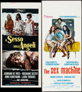 """Movie Posters:Foreign, The Sex of Angels & Other Lot (Titanus, 1968). Italian Locandinas (2) (12.25"""" X 27.5"""" & 12.5"""" X 25.75""""). Foreign.. ... (Total: 2 Items)"""