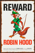 "Movie Posters:Animation, Robin Hood (Buena Vista, 1973). Promotional Wanted Poster (11"" X17""). Animation.. ..."