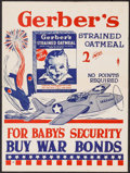 "Movie Posters:War, World War II Propaganda (Gerber, 1940s). War Bonds Poster (14.5"" X19.5""). War.. ..."