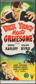 "Movie Posters:Crime, Dick Tracy Meets Gruesome (RKO, 1947). Australian Daybill (12.75"" X30""). Crime.. ..."
