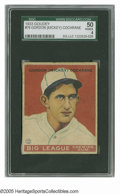 Baseball Cards:Singles (1930-1939), 1933 Goudey Gordon (Mickey) Cochrane #76 SGC VG/EX 50. Great eye appeal on this Hall of Famer's card from one of the hobby'...
