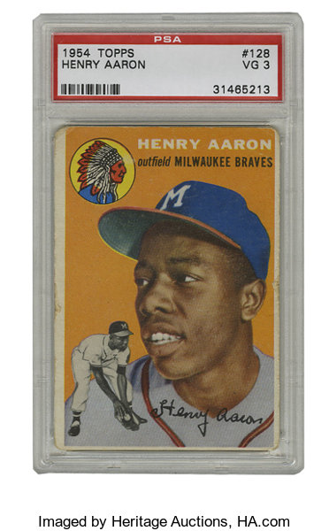 1954 Topps Henry Aaron 128 Psa Vg 3 The Only Recognized