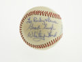 Autographs:Baseballs, Early 1970's Whitey Ford Single Signed Baseball from The Ricky andBruce Collection. Strong 9/10 inscription on the side pa...