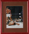 Boxing Collectibles:Autographs, Muhammad Ali Signed Photograph. Offered here is perhaps the mostwidely recognized image of Ali, standing over a defeated L...