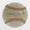 Autographs:Baseballs, 1955 New York Yankees Team Signed Baseball. The year was 1955 andthe stage was set for another Bronx vs. Brooklyn World Se...