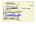 Autographs:Post Cards, Baseball Hall of Famers Signed Postcards Lot of 3. Trio ofpostcards offers plenty of bang for your hobby buck. 1) Carl Hu...