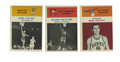 Basketball Cards:Lots, 1961-62 Fleer Basketball Group Lot of 3. Each of these three cardsfrom the 1961-62 Fleer issue features a member from pro ...