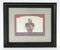Football Collectibles:Others, Joe Montana Signed Card. Attractive die-cut card offers a 10/10 blue sharpie signature from the Hall of Fame quarterback. ...