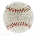 Autographs:Baseballs, Chicago Cubs Team Signed Baseball. Many of Chicago's star playersfrom the 1940s are represented on this ONL (Frick) baseba...