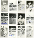 Autographs:Photos, Baseball Stars Signed Photos Lot of 44. Forty-four postcard-sizedphotos have been signed by some of baseball's all-time f...