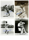 """Autographs:Photos, Baseball Stars Signed Photographs Lot of 16. Sixteen glorious 8x10""""photos are offered here, each with a fine signature. M..."""