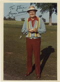 Golf Collectibles:Autographs, Byron Nelson Signed Photograph/Letter. With his 52 professionalwins, including 11 tournaments in a row in 1945, Nelson was...