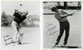 "Golf Collectibles:Autographs, Jack Nicklaus and Arnold Palmer Signed Photographs. The Golden Bearand Arnie have each signed a 8x10"" black and white prin..."