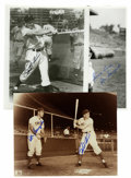 Autographs:Photos, Ralph Kiner and Joe Garagiola Signed Photographs Lot of 3. Thesetwo were teammates on the 1953-54 Chicago Cubs. Kiner (HO...