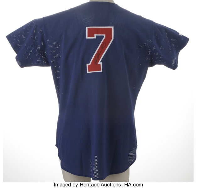 separation shoes ebe24 dc82f Ivan Rodriguez Signed Practice Jersey. This Russell Athletic ...