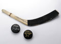 Hockey Collectibles:Others, Mike Modano and Ed Belfour Signed Hockey Memorabilia. These two staples in the Dallas Stars battery who led the team to fou... (Total: 3 Items)
