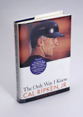 Autographs:Others, Cal Ripken, Jr. Signed Book. First edition biography of baseball's Iron Man Cal Ripken, Jr., is in perfect condition, right...