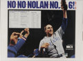 Autographs:Others, Nolan Ryan Signed Poster. This poster, celebrating MLB's strikeoutleader Nolan Ryan's sixth of seven career no-hitters, ha...