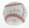 Autographs:Baseballs, 1992 Toronto Blue Jays Team-Signed Baseball. Coming off of theirfirst of two consecutive World Series titles, the 1992 Tor...