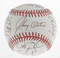 Autographs:Baseballs, 1992 Baltimore Orioles Team Signed Baseball. Twenty members fromthe '92 Baltimore Orioles have checked in on this OAL (Bro...