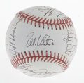 Autographs:Baseballs, 1992 Texas Rangers Team Signed Baseball. Eighteen members of the'92 Texas Rangers have applied their signatures to this OA...