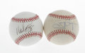 Autographs:Baseballs, Tony Gwynn and Wade Boggs Single Signed Baseballs Lot of 2. Thesetwo contemporaries each terrorized their respective leagu...(Total: 2 Items)