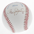 Autographs:Baseballs, Roger Clemens Single Signed Baseball. The Rocket has applied ablack ink signature to the side panel of this OAL (Brown) ba...