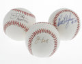 Autographs:Baseballs, Star Pitchers Single Signed Baseballs Lot of 3. Excellent trio ofhurlers have each provided their signature on an official...(Total: 3 Items)