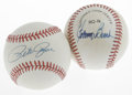 Autographs:Baseballs, Pete Rose and Johnny Bench Single Signed Baseballs Lot of 2. Each of these two ONL (Feeney) baseballs have been furnished b... (Total: 2 Items)