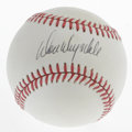 Autographs:Baseballs, Don Drysdale Single Signed Baseball . OAL (Feeney) baseball hasbeen signed in black ink across its sweet spot by the HOF p...