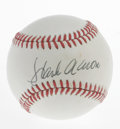 Autographs:Baseballs, Hank Aaron Single Signed Baseball. Home Run King Hank Aaron hasfurnished this ONL (Feeney) baseball with a signature smack...