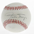 Autographs:Baseballs, Willie Mays Single Signed Baseball. Mays has applied his famoussignature to the sweet spot of this ONL (Feeney) baseball. ...