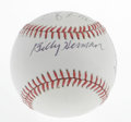 Autographs:Baseballs, Hall of Famers Multi-Signed Baseball. Six members of the ProBaseball Hall of Fame appear on this OAL (Brown) baseball. Th...