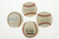 Autographs:Baseballs, Hall of Fame Pitchers Single Signed Baseballs Lot of 4. Four signedballs are offered here, each containing an autograph by... (Total:4 Items)
