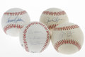 Autographs:Baseballs, Baseball Pitchers Single Signed Baseballs Lot of 4. Single signedbaseballs courtesy of four ex-major league pitchers are o...(Total: 4 Items)