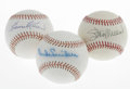 Autographs:Baseballs, Hall of Famers Single Signed Baseballs Lot of 3. Duke Snider, StanMusial, and Harmon Killebrew have each signed on basebal... (Total:3 Items)