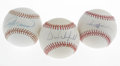 Autographs:Baseballs, Baseball Superstars Single Signed Baseballs Lot of 3. Three of themightiest sluggers of the '70s and '80s are represented ... (Total:3 Items)