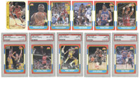 1986 Fleer Basketball Set (132) and Fleer Sticker Set (11). Each of these two basketball issues from Fleer are offered i...