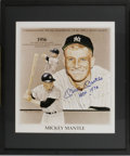 Autographs:Others, Mickey Mantle Signed Print. Offered here is a stunning postercommemorating the 30th Anniversary of Mantle's historic Tripl...