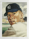 Autographs:Others, Mickey Mantle Signed Lithograph. This stunning limited-edition lithograph features the art from one of the most sought-afte...