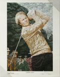 Golf Collectibles:Autographs, Tiger Woods and Jack Nicklaus Lithograph Set. From the art of RickRush we offer these two lithographs, each measuring 16x2...