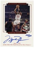 Basketball Collectibles:Others, 1999 Upper Deck MJ Master Collection Michael Jordan Signature Performances #MJ5. Hand-numbered and signed card from the per...