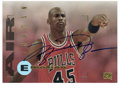 Basketball Collectibles:Others, 1995-96 Skybox Air Jordan Emotion #100. High-quality Jordan cardfrom the 1995-96 issue has been signed by MJ himself. Jor...