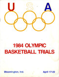 Miscellaneous Collectibles, 1984 Olympic Basketball Trials Program. The basketball trials for the 1984 Olympics took place at Indiana University over t...