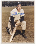Autographs:Photos, Joe DiMaggio Signed Photograph. Classic image of the Yankee Clipperhas been graced with an absolutely splendid blue sharpi...